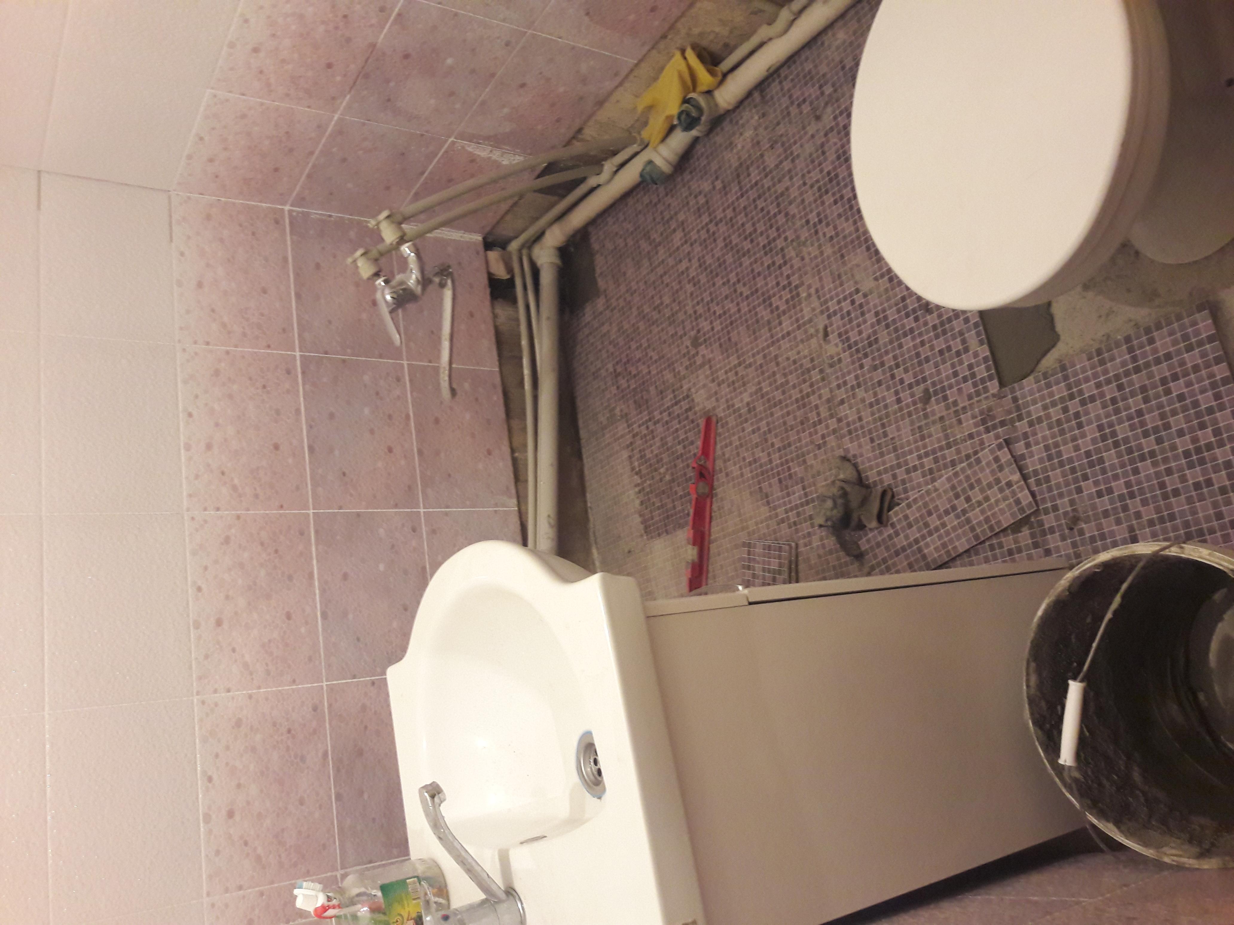Фото Монтаж водопровода, канализации и укладка кафеля