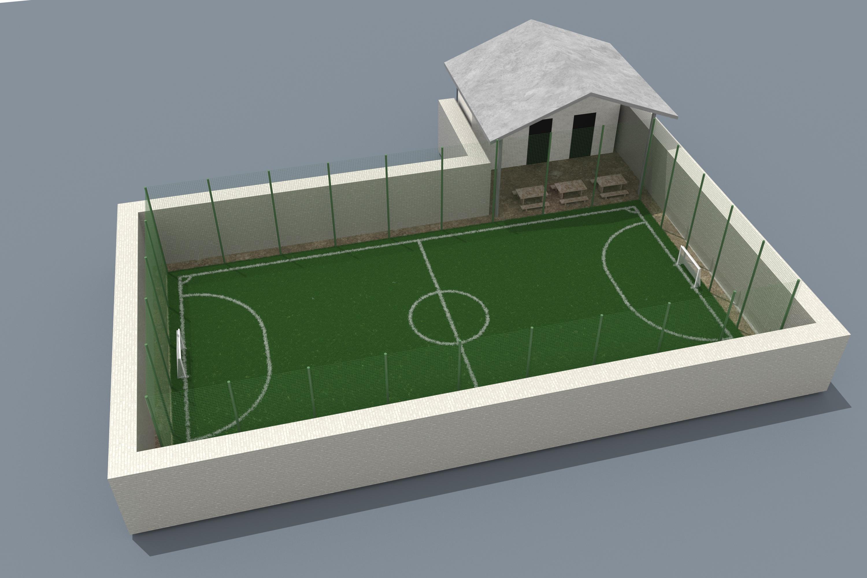 Фото Визуализация футбольного поля для Будущей постройки