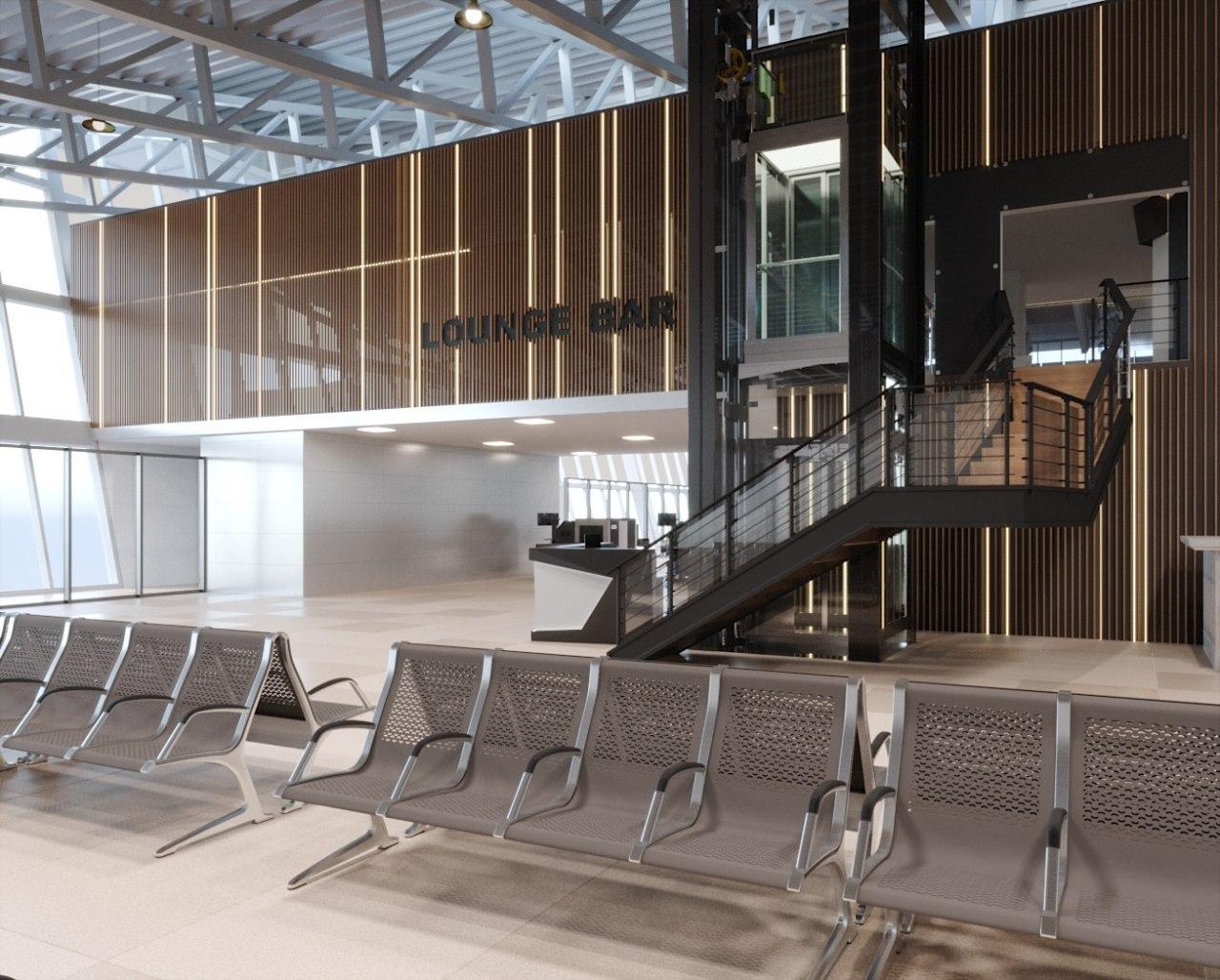 Фото Lounge Bar Airport Almaty. Совместно с BASIRE DESIGN GROUP