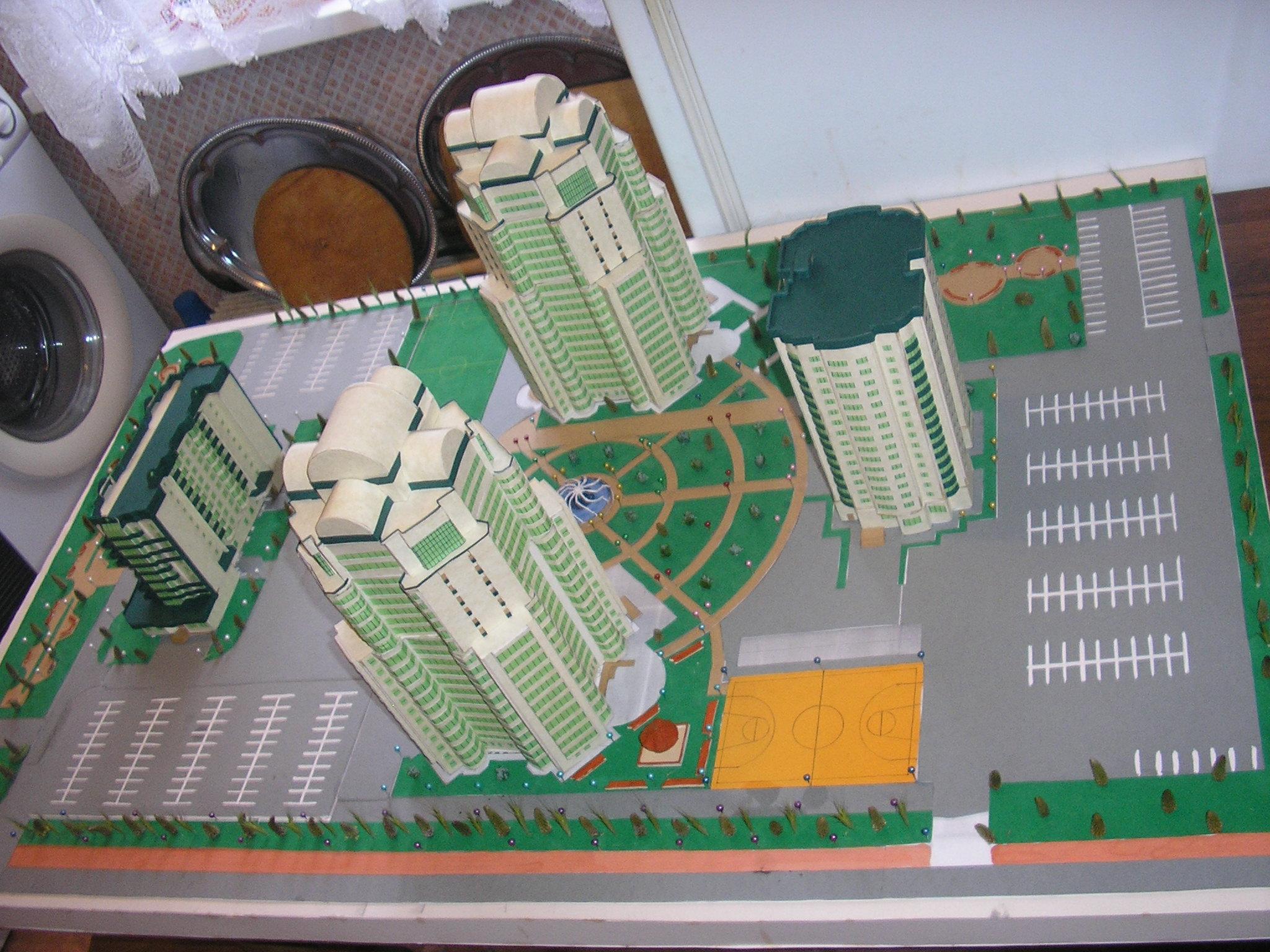 Фото Макет жилого комплекса