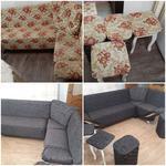 Делаю перетяжку мягкой мебели, и чехлы на диван