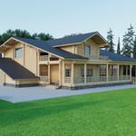 Проект деревянного дома-бани
