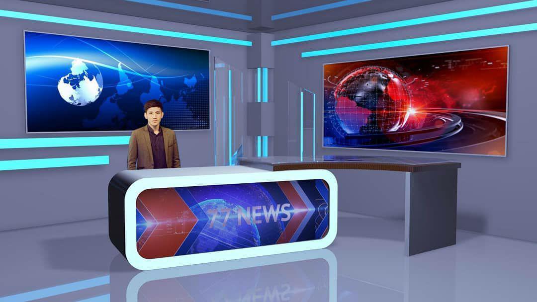 Фото C4d Новостная виртуальная студия