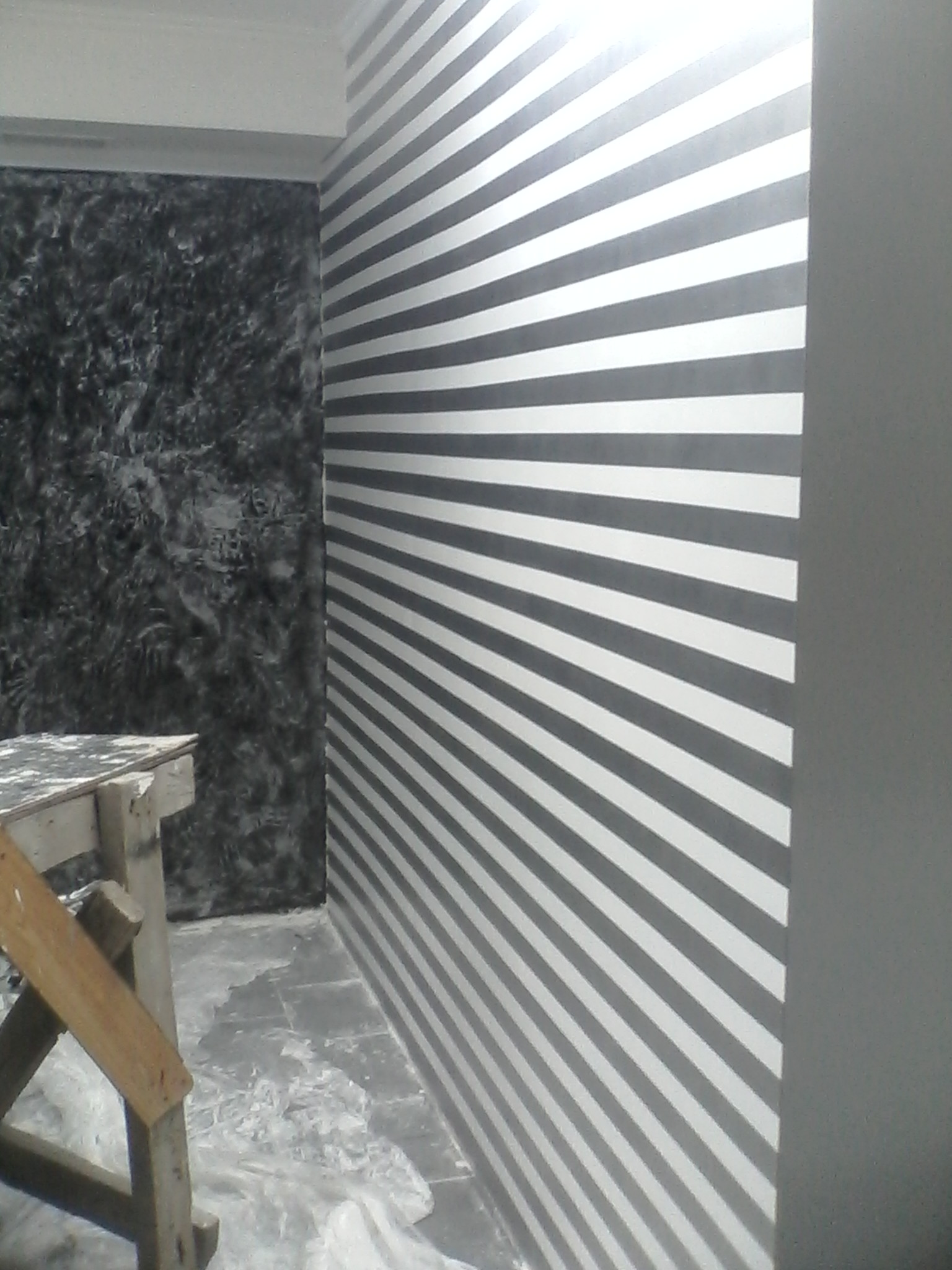 Фото Покраска перламутровой краской ( горизонтальные полосы)