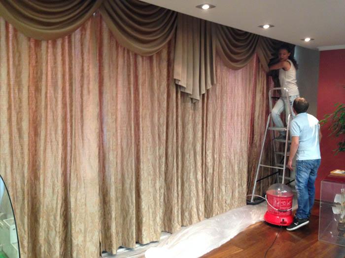 Фото Химчистка штор с навеской в частном доме