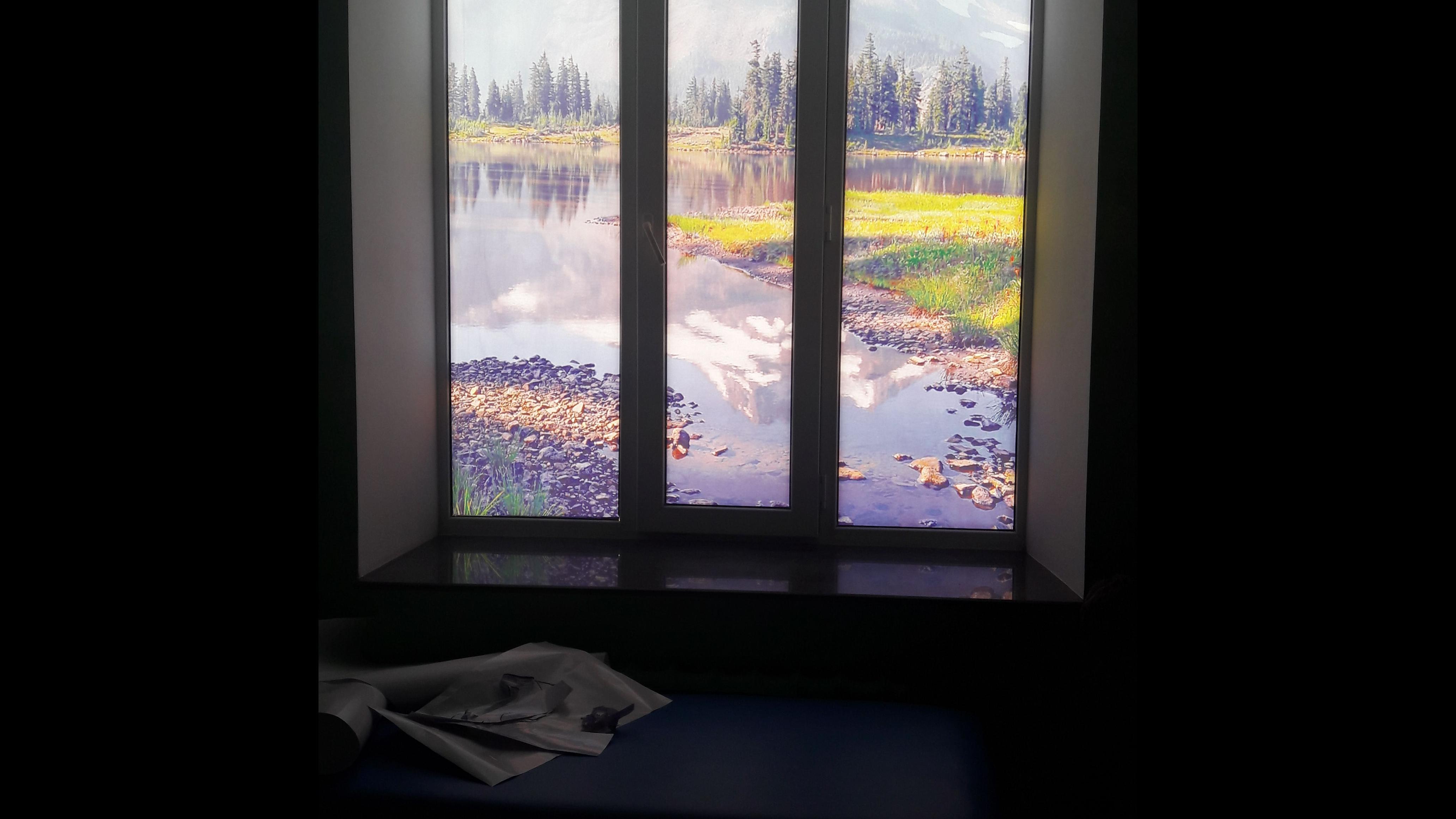 Фото Тонирование окон и дверей винилом и перфовинилом