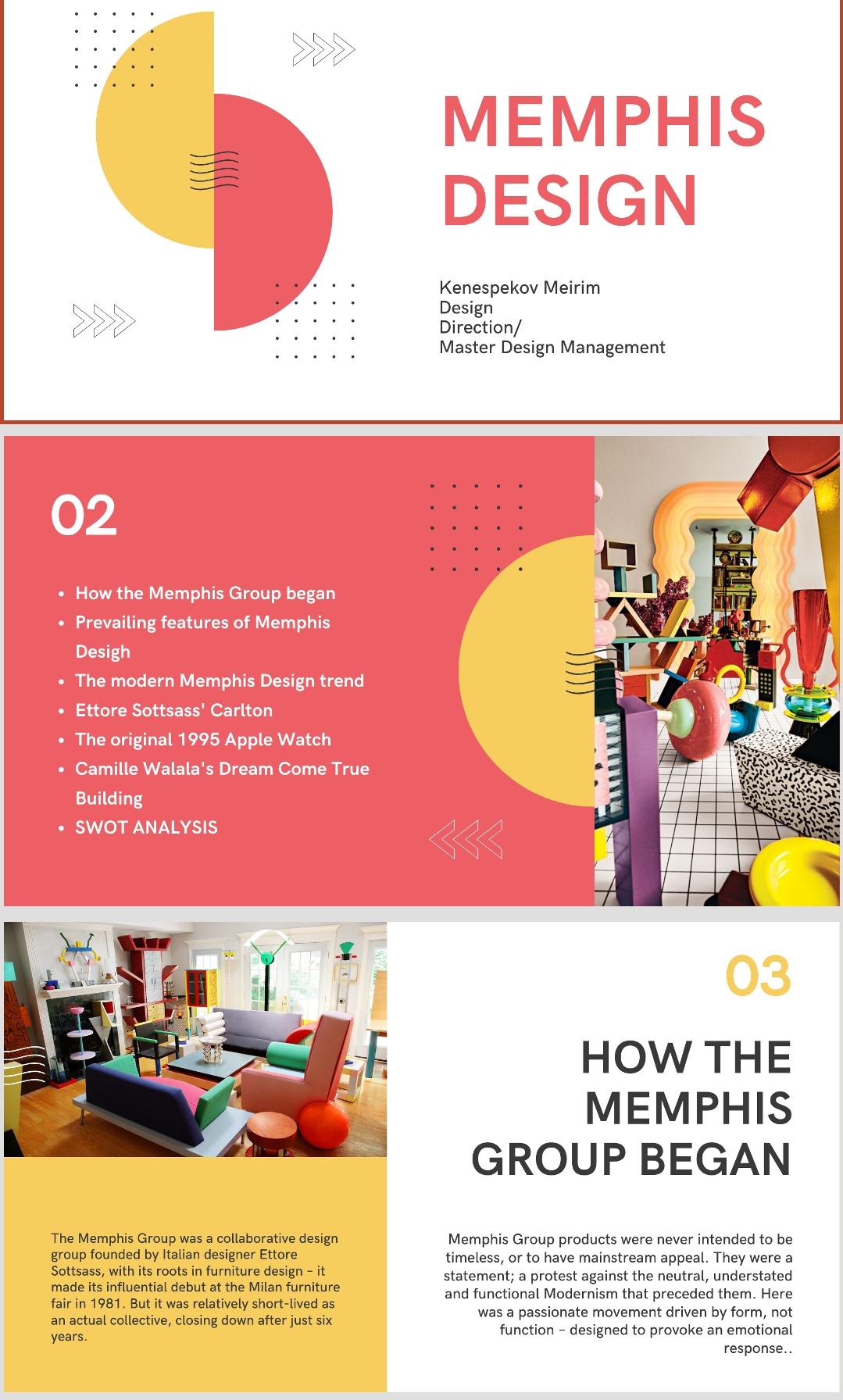"""Фото Информативная презентация на английском языке """"Memphis Design"""""""